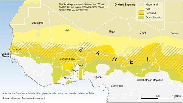 La zona del Sahel (Fuente: http://layijadeneurabia.com/)